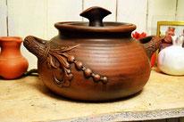 глиняная посуда для печки