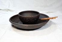Суповые тарелки блюдо черные тарелки