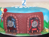 Thomas the Tank Engine childrens birthday cake