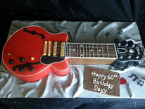 Gibson Guitar Birthday cake