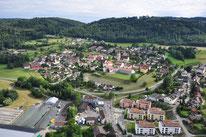 Überflug Dorf