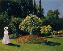 Frau im Garten Oscar Claude Monet