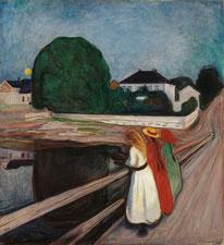 Die Mädchen auf der Brücke Edvard Munch