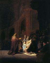 Die Lobpreisung Simeons von Rembrandt
