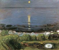 Sommernacht am Strand Edvard Munch