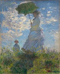 Frau mit Sonnenschirm - Madame Monet und ihr Sohn Oscar Claude Monet