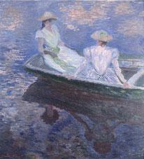 Junge Mädchen in einem Boot