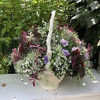 岐阜でプランツギャザリングを作る BlessingRing。マウント型、ドーム型の寄せ植え。根付きのアレンジメント。プランツギャザリング。