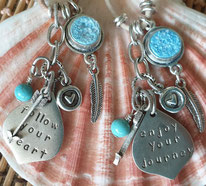 inspirational crystal word pendants on vegan cord handmade in Noosa Australia