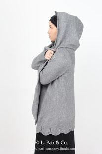 Кимоношка с капюшоном (темно-серая)