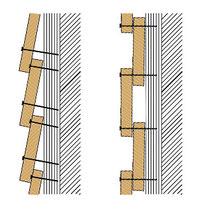 vertikale / horizontale Verschalung