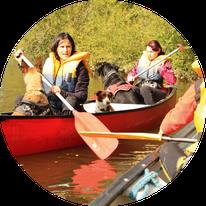 Mit Hunden unterwegs im Kanu