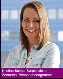 Kristina Schütt, Bereichsleiterin Zentrales Personalmanagement