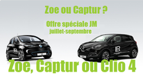 Dès un chiffre mensuel de 4 000 euros, la Zoe, Captur ou Clio 4 pour la France est à disposition des partenaires LR