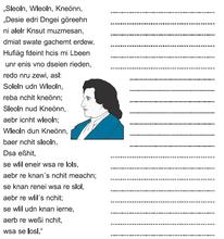 Ein Text von Goethe - jedes Wort ist ein Anagramm