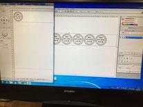 レーザーカッターのデータ。  CADソフトも完備