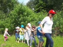 Naturerlebnis mit einer Kindergruppe (S. K. Rubbert)