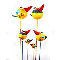 Gartenstecker Vogel,bunte Blechvögel Gartenstecker