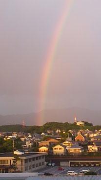 きれいな虹がかかりました!