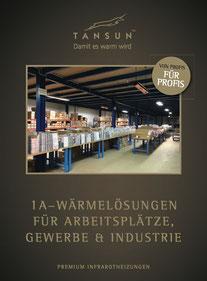 Tansun Prospekt Heizstrahler für Arbeitsplatz und Gewerbe und Industrie