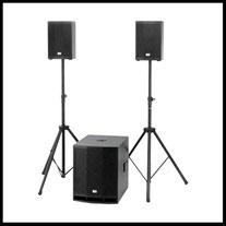 Musikanlage Boxen Beschallung mieten verleih Alex Light and Sound