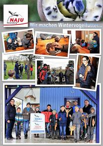 "Poster: Maximilian Dechant - NAJU Projekt "" Wir machen Wintervogelfutter"""