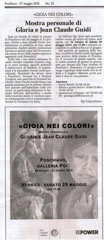 """articolo de """"Il Grigione Italiano"""" del 27.05.2010"""