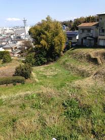 茶畑は総構の堀の跡
