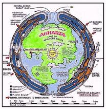 Carte de l'Agartha - Cliquer pour agrandir