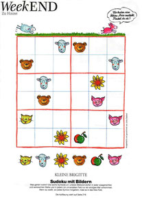 """""""""""Sudoku mit Bildern"""", für KLEINE BRIGITTE, Gruner & Jahr"""
