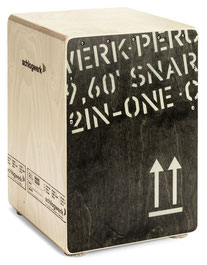 Cajon Snare selektierter - Birkenholzkorpus / Birke schlagfläche Black Edition