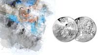 Gedenkmünzen  Euro Silber Frankreich Monnaie de Paris 2020 Silbermünzen Sammlermünzen Silber kaufen Johnny Hallyday