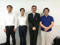Mr.Yoshinori OOKA, Mr.Kenichi YAMAMOTO and Mr.Kensuke ASAHI