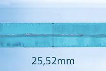 VSG aus TVG Glas 25.52mm klar