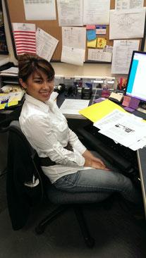 ISS学生スタッフのレア・ロアさん