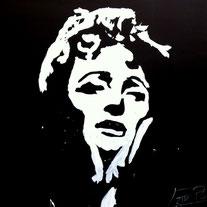 Portrait d'Edith Piaf en Glitter Painting par EriK BLACK