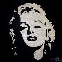 Portrait paillettes de Marilyn MONROE par Erik BLACK