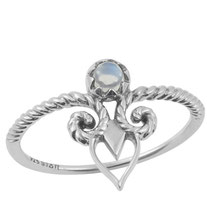 925 sterling zilver curly dream ring rainbow moonstone