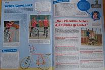 """Oktober 2016 - Bericht in der Kinderzeitung über den TV Auftritt bei """"Klein gegen Groß"""" von Loris und Luis"""