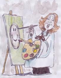 L'artiste en action