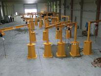 mobile Säulendrehkrane, welche mit Stapler oder Brückenkran umgesetzt werden können