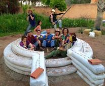 Dôme Earthbag avec Cal-Earth Maroc 2016