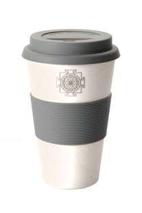 COFFEE-TO-GO BECHER 'SRI YANTRA' WEISS