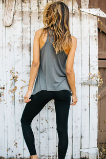 "JOAH BROWN TANK TOP ""PERFECT SHAPE TANK"" SLATE"