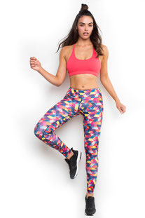 "DHARMABUMS - LEGGING ""AZTEC IMPACT"" HIGH WAIST, FULL LENGTH"