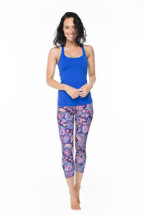 "DHARMABUMS - LEGGING ""BOHO BLOOM"" HIGH WAIST, 7/8 LENGTH"