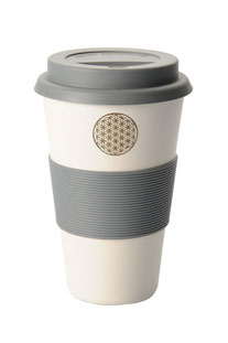 """COFFEE-TO-GO BECHER """"FLOWER OF LIFE"""" WEISS"""