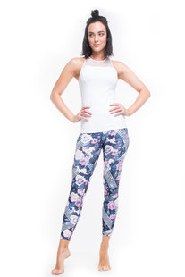 "DHARMABUMS - LEGGING ""POLKA DOT RUNNER"" HIGH WAIST, 7/8 LENGHT"