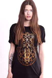 I AM VIBES – SHIRT «BAMBOO BLACK COPPER HAMSA »