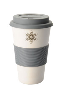 "COFFEE-TO-GO BECHER ""METATRON'S CUBE"" WEISS"